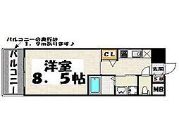 ウインステージ平尾[4階]の間取り