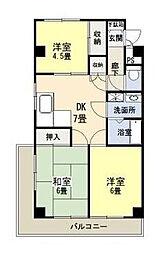 黒川ビル[4階]の間取り