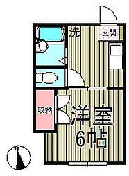 ハイツ公田[103号室]の間取り