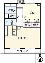 IBハイツ[2階]の間取り