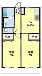 愛知県豊田市土橋町6丁目の賃貸アパートの間取り