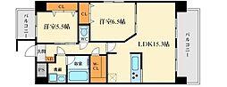 メゾンド江坂[3階]の間取り