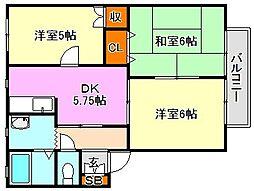 須磨天神ハイツ[2階]の間取り