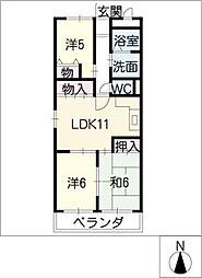 黄桜名古屋ハイツ[3階]の間取り