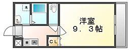 JR高徳線 栗林公園北口駅 徒歩5分の賃貸マンション 1階1Kの間取り