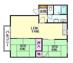 ルーラルコンフォート箱田[1階]の間取り