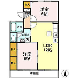 HOUSE T&T[1階]の間取り