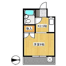 コーポ瑞松[302号室]の間取り