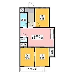 サンパレス覚王山[2階]の間取り