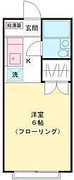 コーポ竹之内B[1階]の間取り