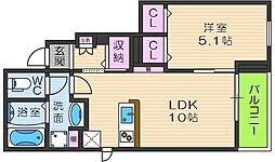 エレガント ハーモニーIII番館 1階1LDKの間取り