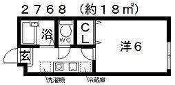 ハイツKYOYA(ハイツキョウヤ)[1A号室号室]の間取り