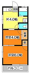 大橋マンション[3階]の間取り