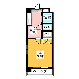 幸川マンション北館[3階]の間取り