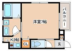 兵庫県神戸市長田区日吉町4丁目の賃貸アパートの間取り