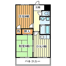 姫島第7ローズマンション[2階]の間取り