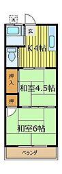 三上荘[8号室]の間取り