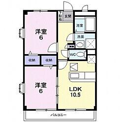 アンナプルナ[105号室号室]の間取り