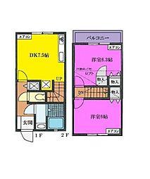 [テラスハウス] 神奈川県横浜市戸塚区原宿5丁目 の賃貸【/】の間取り