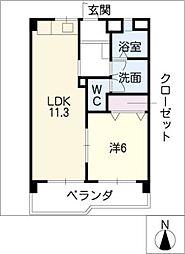 メゾン野並[2階]の間取り