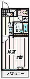 JR埼京線 南与野駅 バス9分 大泉院通り下車 徒歩4分の賃貸マンション 2階1Kの間取り