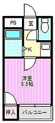 京阪プリンスマンション[4階]の間取り
