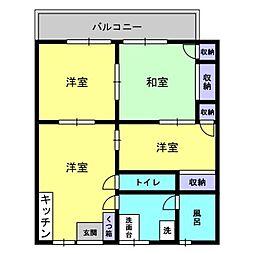 オリジン雷電山ハイツC[202号室]の間取り