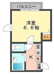 東京都江戸川区西小岩4の賃貸アパートの間取り