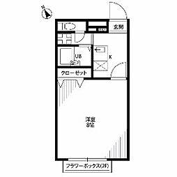 東京都青梅市長淵8丁目の賃貸アパートの間取り
