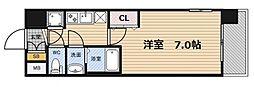 レジュールアッシュ梅田WESTGATE[10階]の間取り