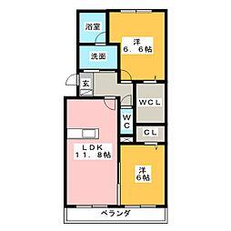 愛知県名古屋市守山区大森5丁目の賃貸アパートの間取り