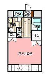 メゾン東武三萩野[602号室]の間取り