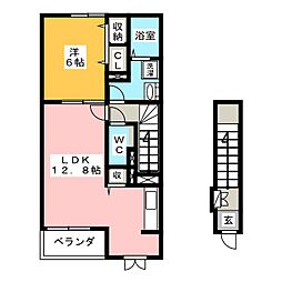 エクセルB[2階]の間取り
