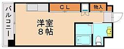 福岡県福岡市博多区千代3の賃貸マンションの間取り