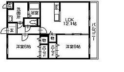 コーンハイツII[2階]の間取り