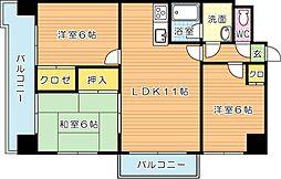 御開第5晴和ビル[4階]の間取り