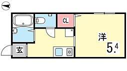 プチフラッツ本庄[2号室]の間取り