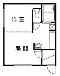 永山5・24コーポ[101号室]の間取り