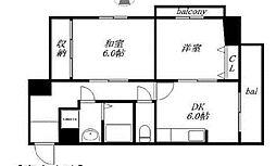 大阪府大阪市東成区大今里3丁目の賃貸マンションの間取り