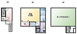 日光ビル[3階]の間取り