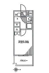 ジョイフル多摩川 bt[208kk号室]の間取り