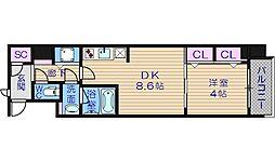 スプランディッド淀屋橋DUE[12階]の間取り