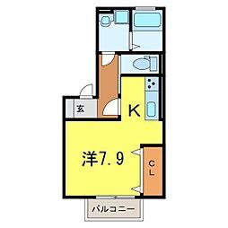 仮) D-room今池町[201号室]の間取り