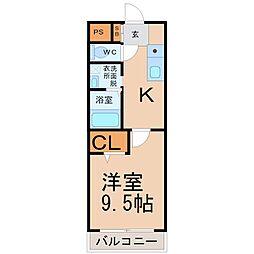 ナオビ[3階]の間取り