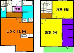 [テラスハウス] 静岡県浜松市浜北区上島 の賃貸【/】の間取り