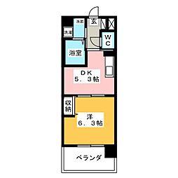 ソフィアOSK[5階]の間取り