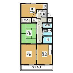 カーサブルーノ[2階]の間取り