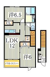 アニメート欅II[2階]の間取り