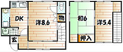 [一戸建] 福岡県北九州市小倉北区末広1丁目 の賃貸【/】の間取り