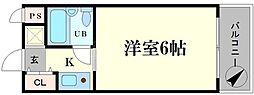 ビバリーヒルズ本田西[8階]の間取り